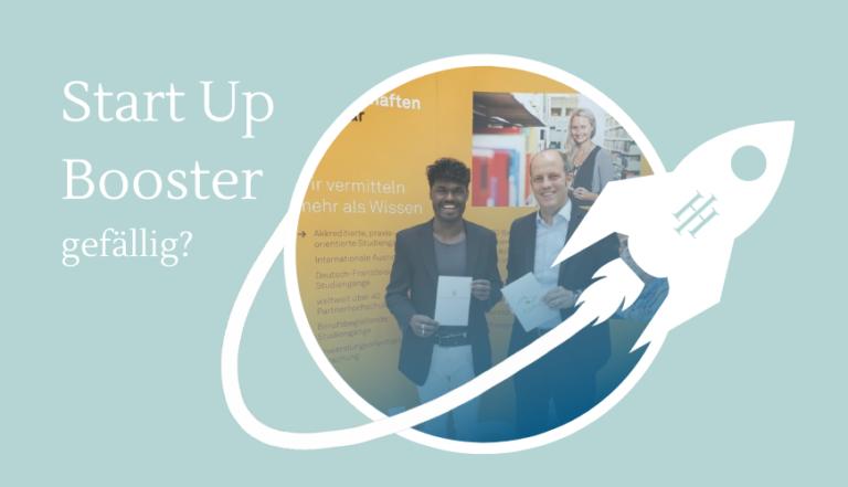 Existenzgründer der htw saar wird zum Start-Up Booster!