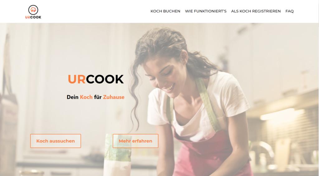 UrCook präsentiert seine erste Website