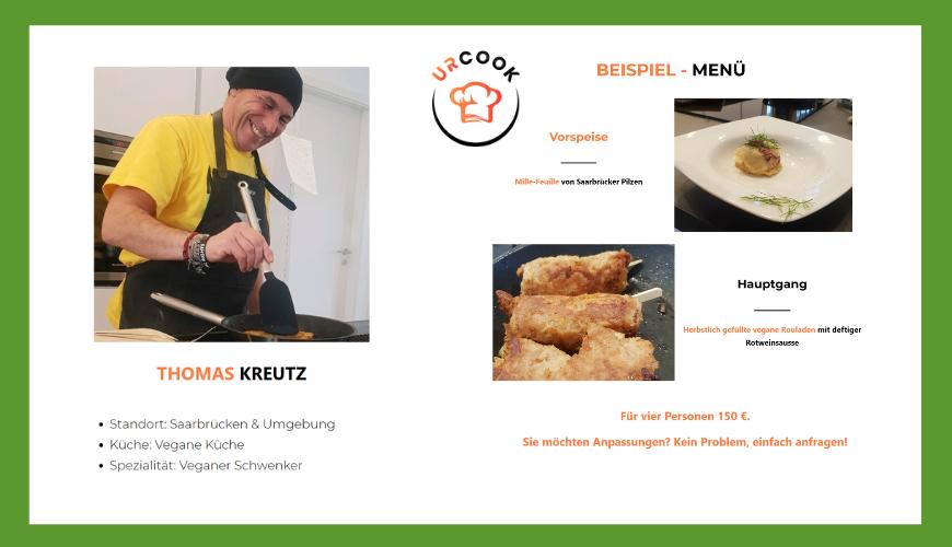 Thomas Kreutz von den Vegabunden als Koch bei URCOOK gelistet