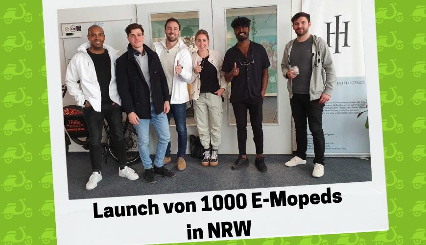 Ein weiteres Achievement: Launch von 1000 E-Mopeds in NRWJuni 2021