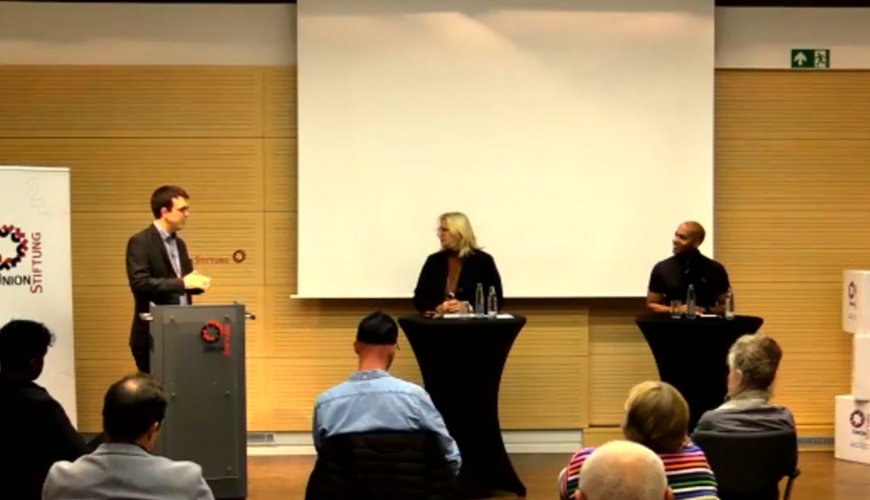Podiumsdiskussion Union Stiftung